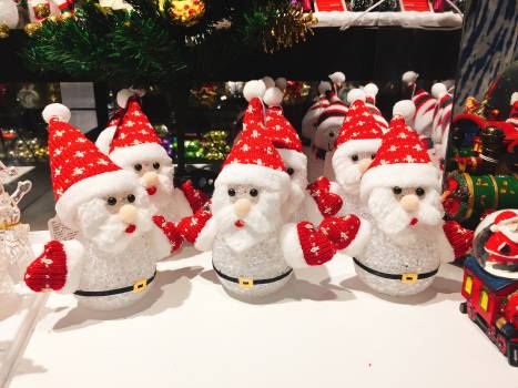 Close-up of Christmas Decorations Free Photo