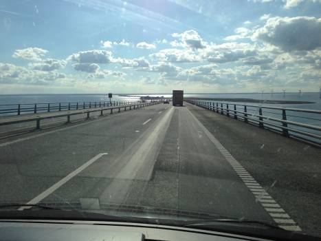Road by sea against sky Free Photo