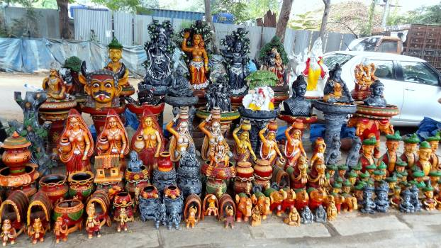Close-up of Statues for Sale in Market Free Photo