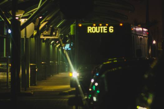 Cars Moving in Airport at Night #62800