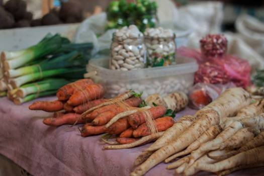 Close-up of Vegetables for Sale in Market #62894