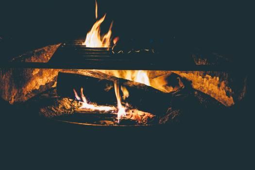 Close up of bonfire burning at night #63898