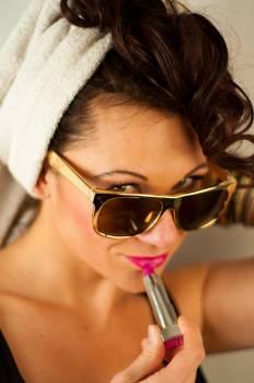 Woman Wearing Sunglasses #64097