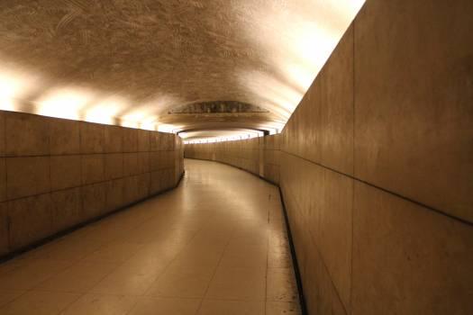 Empty Subway Tunnel Free Photo
