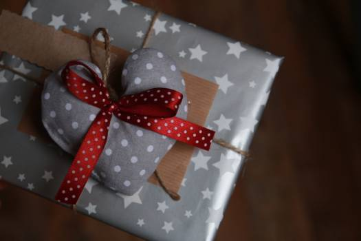 Close-up of Christmas Decoration in Box Free Photo