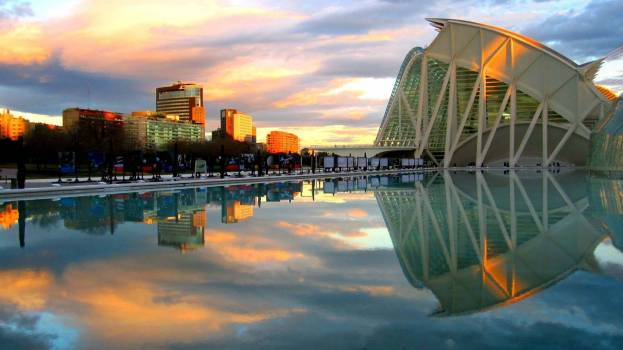 Reflection of City in Water #64537
