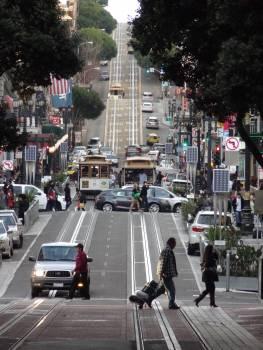 Vehicles on City Street Free Photo