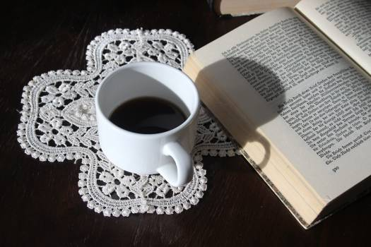 High Angle View of Coffee on Table Free Photo