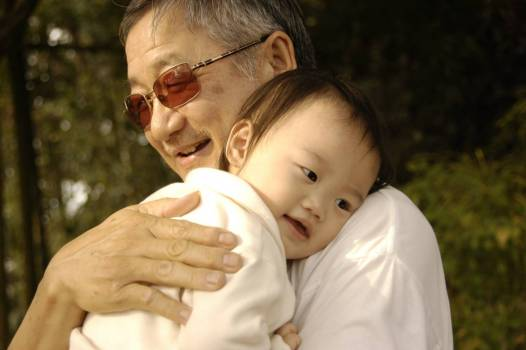 Close-up of Father With Baby Free Photo