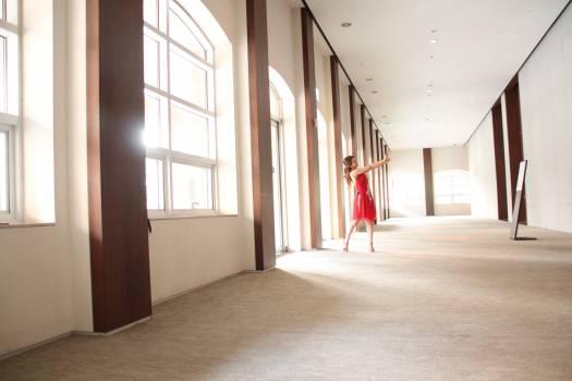 Woman in Corridor of Building #65139