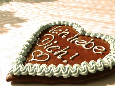 High Angle View of Cake on Plate Free Photo