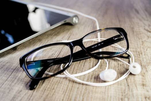 Close-up of Eyeglasses on Table #65299