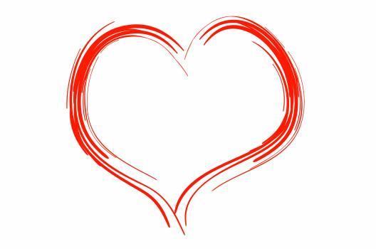 Heart Shape on White Background Free Photo