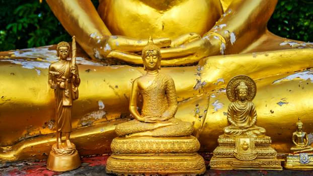 Buddha Statue in Temple Free Photo