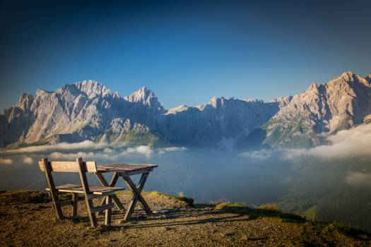 View of Chairs on Mountain Range #65704