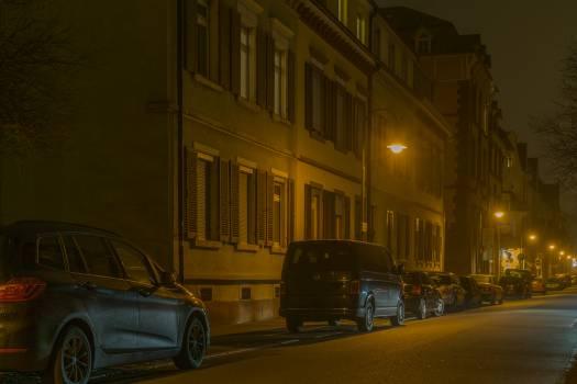 Cars in Illuminated City at Night #66037