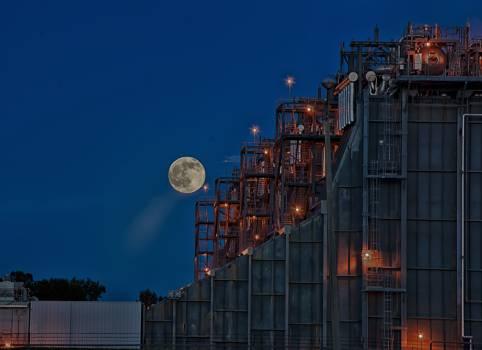 Metallic Structure at Night #66089