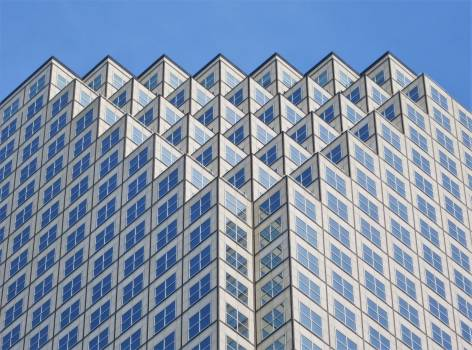 Low Angle View of Office Building Against Sky #66505