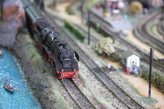 Train on Railroad Track Free Photo
