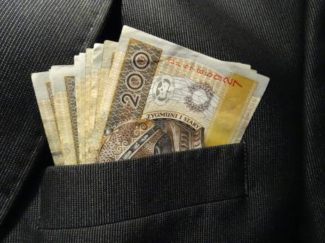Bills business currency euro banknotes Free Photo