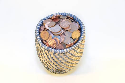 A wealth of basket with money buck cash Free Photo