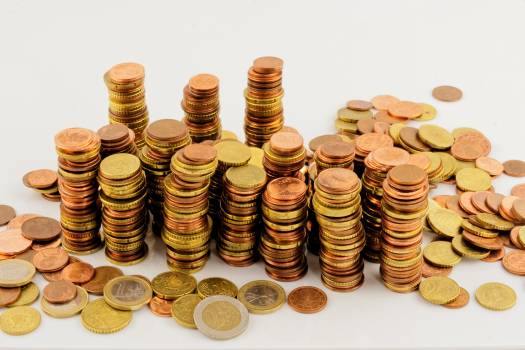 Cent coins euro finance Free Photo