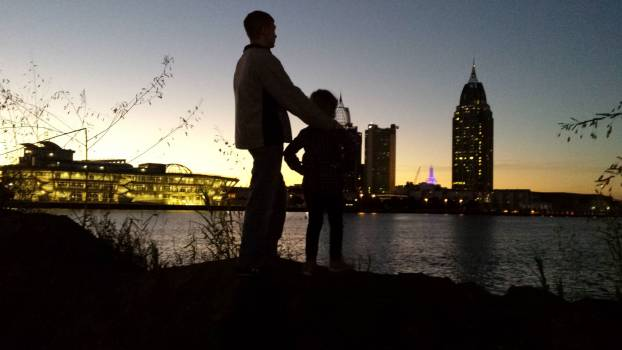 Alabama city lights city on the water father and daughter #67382