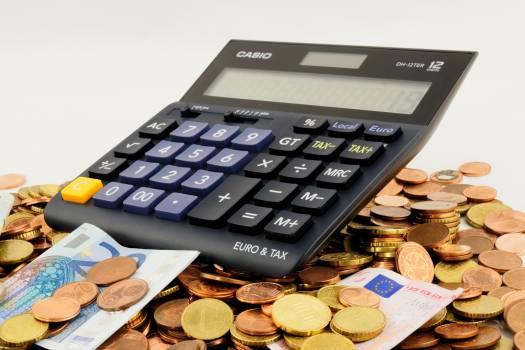 Calculator cent coins euro Free Photo