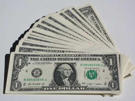 Bank note bills currency dollar Free Photo