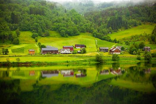 Agriculture barn beautiful country Free Photo