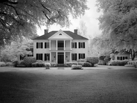 Architecture black and white facade home Free Photo