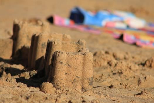 Beach beira mar castle construction Free Photo