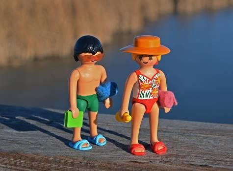 Action figures bathing suit couple flip flops #68375