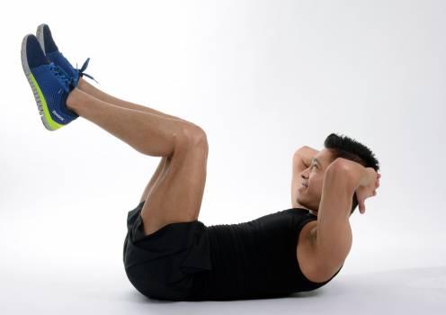 Abdominal athlete attractive exercise Free Photo