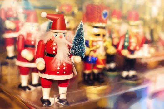 Celebration christmas claus decoration Free Photo