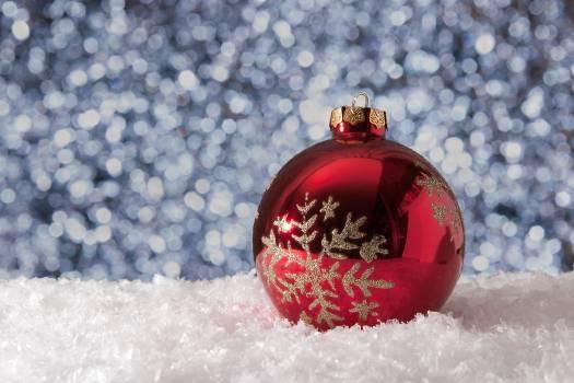Christmas christmas ball decoration frost Free Photo