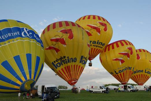 Aerial view air ball balloons #68795
