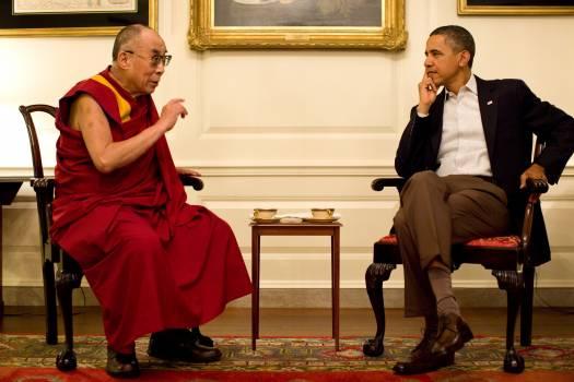 14th dalai lama 2011 44th president of the united states barack hussein obama ll Free Photo