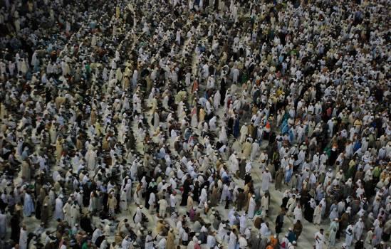 Crowd crowds group hajj Free Photo