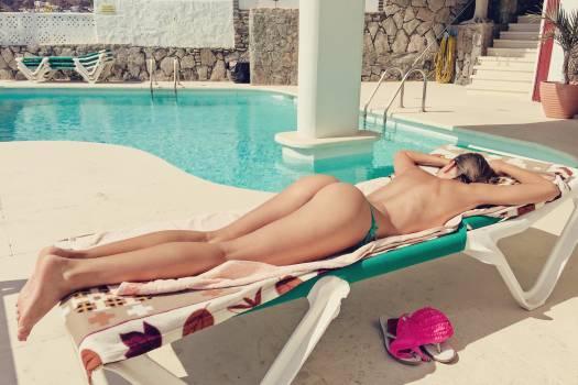 Bikini buttocks canary islands exposure to the sun Free Photo