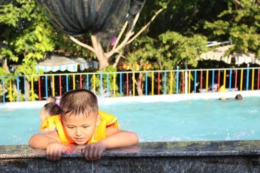 Children outdoor swimming pool outdoors summer #69255