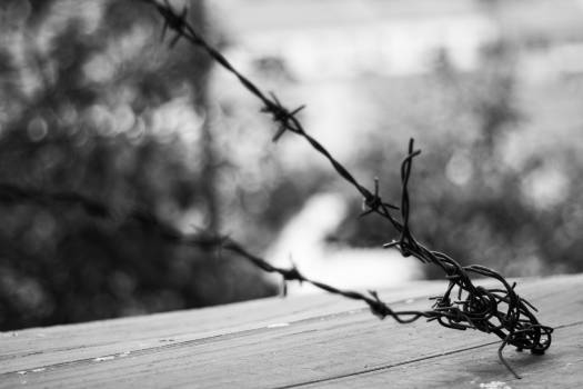 Architecture atmosphere barbed wire barrier Free Photo