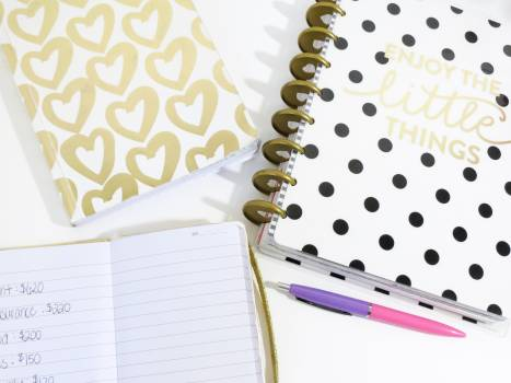 Composition cute design diary Free Photo