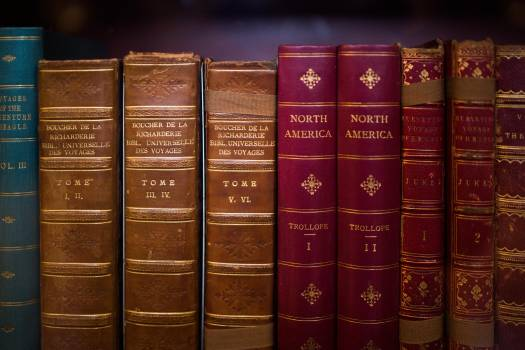 Antique books encyclopedias history Free Photo