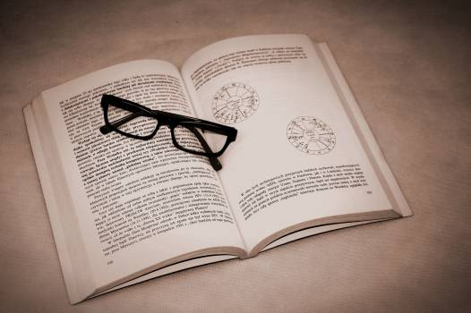 Book glasses mandala reading #69957