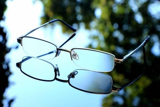 Close up eyeglasses eyewear glasses Free Photo