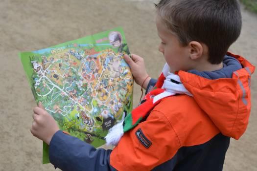 Boy child map map reading Free Photo