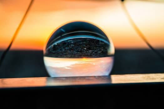 Abendstimmung afterglow glass ball horizon #70280
