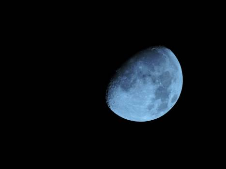 Astronomy blue moon cosmos moon Free Photo