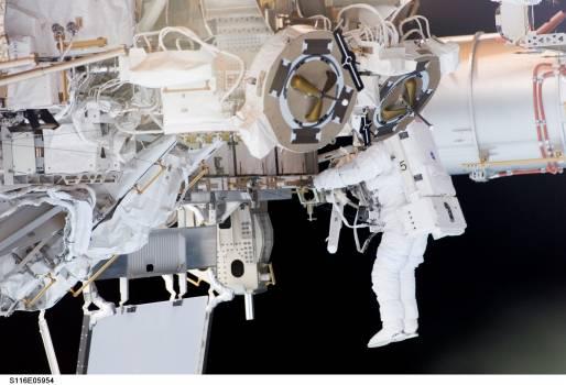 Astronaut balance cosmos earth Free Photo